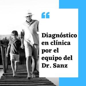 Diagnóstico en clínica por el equipo del Dr. Sanz